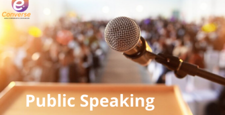 Converse E+, Public Speaking